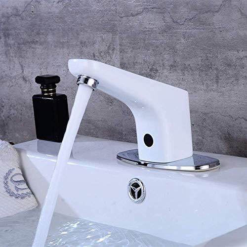 YO-TOKU Modern Wit volledig koperen Automatic badkamer onder TegenBassin Inductie Kraan Hotel Shopping Mall Infrarood Intelligent Non-contact Hand wasmachine Mooi praktische Kraan voor Badkamer Home D