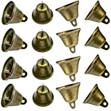 Maydahui 35PCS Vintage Bronze Jingle Bells (1.7'X 1.5') for Dog Doorbell & Potty Training, Housebreaking, Making Wind Chimes,Christmas Bell