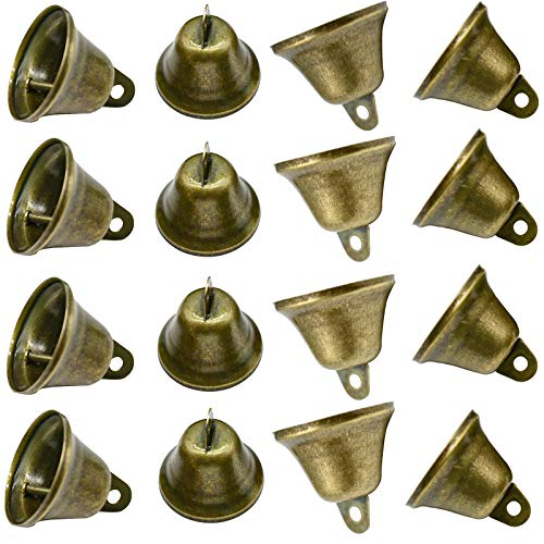 Maydahui 35PCS Vintage Bronze Jingle Bells (1.7X 1.5) for Dog Doorbell & Potty Training, Housebreaking, Making Wind Chimes,Christmas Bell