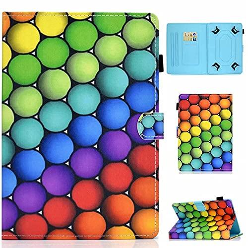 Funda universal para tablet de 10 pulgadas, con soporte universal para Tab de 10', verde, amarillo, azul, morado, rojo, naranja