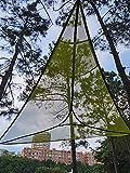 Hamaca aérea de camping de 3 puntos, resistente alfombra triangular, de tienda de campaña portátil de aire cielo, muebles al aire libre para mochileros, viajes, playa, patio, jardín, verde, 2 m