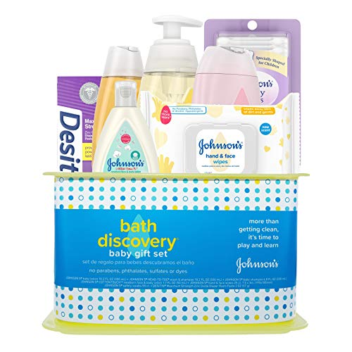 Johnson's Bath Discovery Gift Set for Parents-to-Be, Caddy...