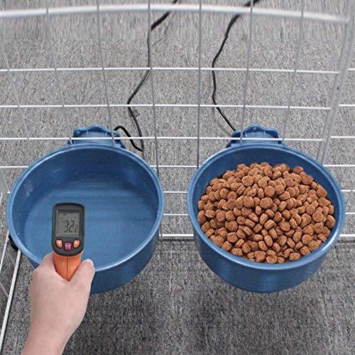 Beheizter Wassernapf Für Haustier, Haustier Heizschüssel, 600ml Hundenapf Hunde Futternapf ,Robust, Auslaufsicher,Premium Qualität Reisenäpfe Hund Futter Napf, Für Katze, Huhn, Eichhörnchen Usw.