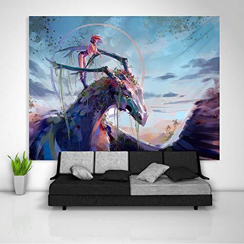 Muur Woondecoratie Art Abstract Olieverf Tapijt Deken Dragon Schilderij Tapijt Kunst Muur Opknoping Tafel Bed Cover Home Decor 200x150 cm