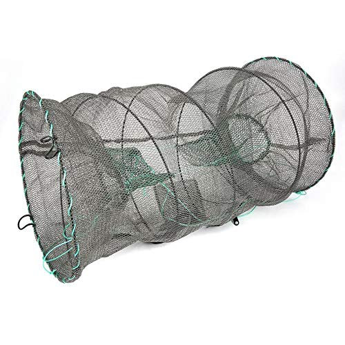 Red de pesca de cangrejo de cangrejo de langosta atrapador de ollas, trampas de pesca, camarones, camarones, cebos vivos, cangrejo, langosta, minnows, red de cangre