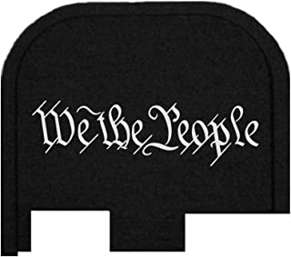 BASTION Laser Engraved Butt Plate, Rear Slide Cover Back Plate for Glock G43, G43X, and G48 9mm ONLY - WE The People Script