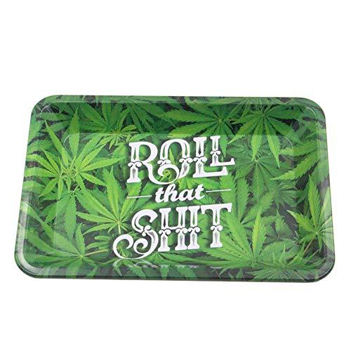 Dricar Metall-Tablett, Weißblech Rolling Tray Groß Rolltablett zum Drehen von Zigaretten(28.8 x 19 cm)