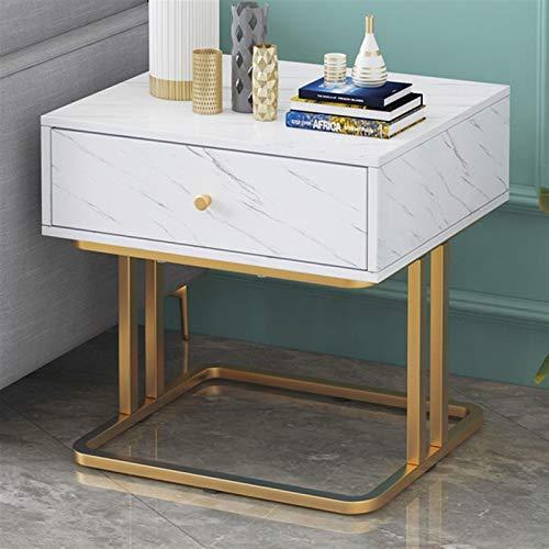 OYZK Mesa de Noche de Muebles de Dormitorio con 1 cajón 3 cajón de Noche Sofá Sofá Mueble de mármol Mesa de Almacenamiento de mármol (Color : with 1 Drawer)