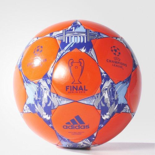 adidas Performance Finale Berlin Capitano Soccer Ball, Solar Red/Night Flash Purple/White, Size 5
