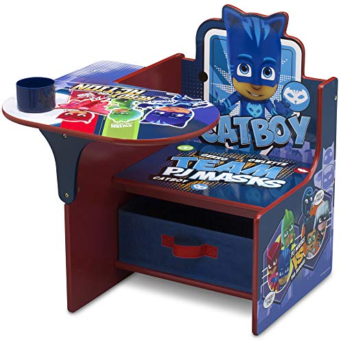 Delta Children Chair Desk with Storage Bin - Ideal for Arts & Crafts, Snack Time, Homeschooling, Homework & More, PJ Masks