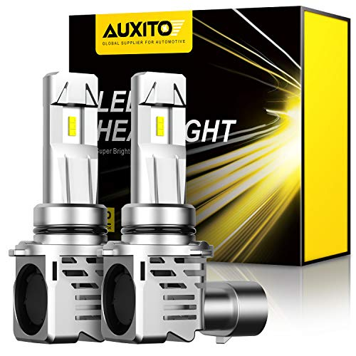 AUXITO 9006 LED Headlight Bulbs, 12000LM Per Set 6500K Xenon White Mini Size HB4 Wireless Headlight Bulbs, Pack of 2
