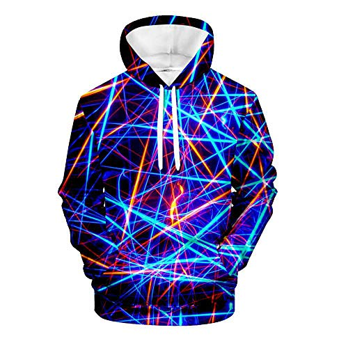 HUIYIYANG Tees Mens Womens 3D Printed Abstract Art Series Novelty Hoodies Novelty Pullover Hooded Sweatshirts with Pocket 7 Design XL