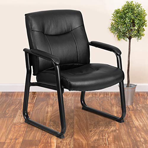 Flash Furniture GO-2136-GG Hercules Series Big & Tall 500 lb. Rated Black LeatherSoft Executive Side...