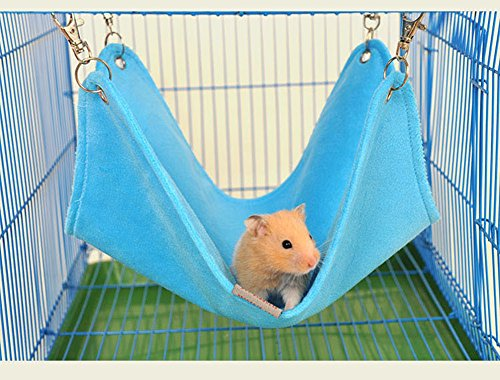 Keersi Cozy Plush Hammock Swing Hanging Bed Nest House for Syrian Hamster Gerbil Rat Mouse Chinchillas Guinea Pig Squirrel Small Animal Cage Toy