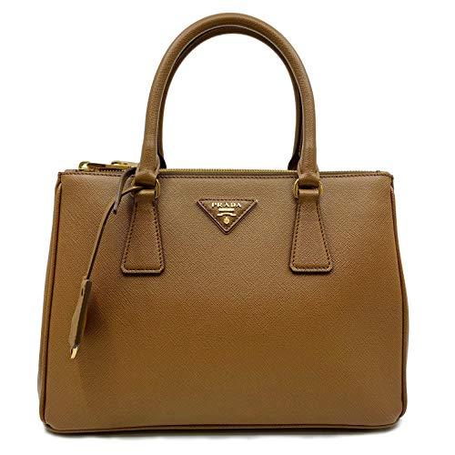 Prada 1BA863 F0401 Saffiano Lux - Bolso doble con cremallera para mujer, color marrón