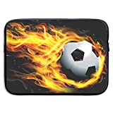Owmousp Soccer Flame 13-15 Inch Laptop Sleeve Bag Printing Neoprene Carrying Bag