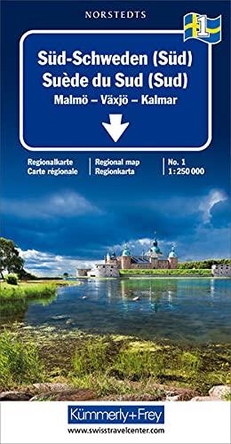 Kümmerly & Frey Karten, Süd-Schweden (Süd): South: Malmö, Växjö, Kalmar (Regional Maps - Schweden)