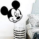 wZUN Cabeza de Dibujos Animados Moderna Etiqueta de la Pared habitación de los niños Accesorios de decoración de la casa Mural 30X30cm