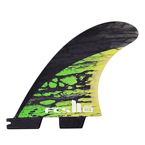 FCS II Matt Biolos PC Carbon Tri-Quad Aletas Set Verde Medio