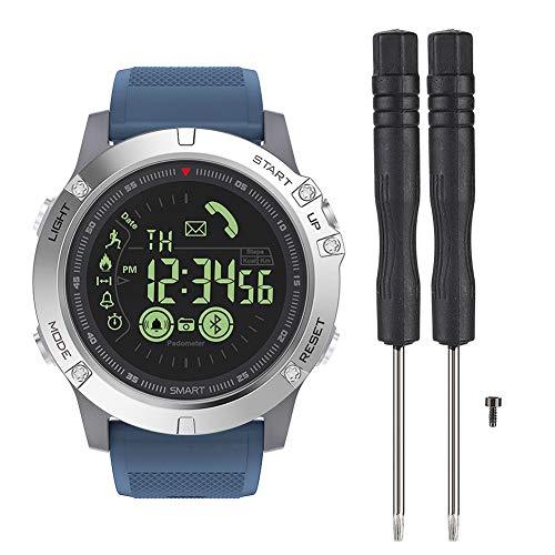 Zeblaze VIBE3 Impermeabile Smart Watch Bluetooth Super Long Standby Sport Smartwatch Pedometro Bracciale Wristband Calorie Tracker per Android e iOS Blu