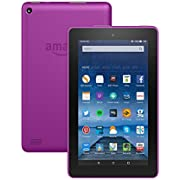 """Fire Tablet, 7"""" Display, Wi-Fi, 8 GB (Magenta) - Includes Special Offers (Previous Generation)"""