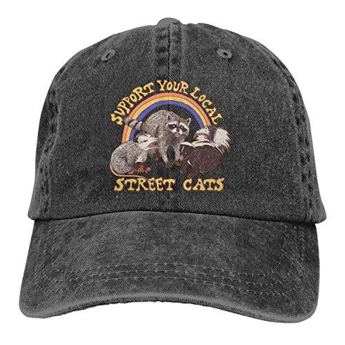 Vervang je honkbalmutsen unisex voor vaders met een wasbare hoed van jeans in Strada