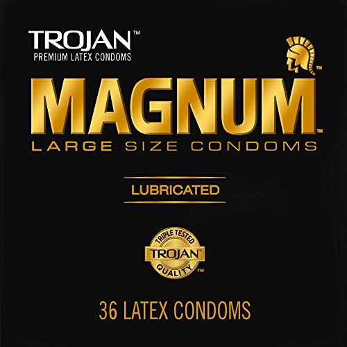 TROJAN Magnum Large Size Condoms For Comfort And Sensitivity, 36 Count, 1 Pack - $9 shipped w/ Amazon Prime