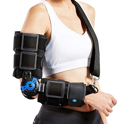 WY-Elbow Inmovilizador de Codo - Cabestrillo Brazo Bisagras - para Coderas para tendinitis - Brazo de Adultos Férula inmovilizadora de férula de Codo - para Apoyo de nervio Cubital