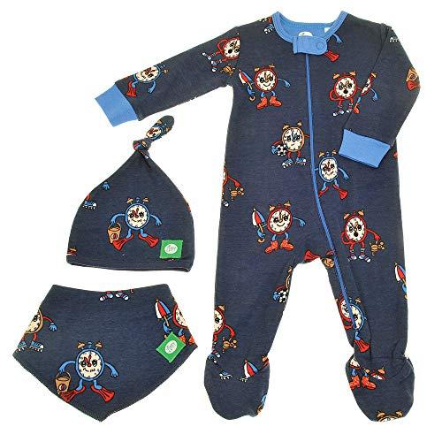 Zippy Suit zip tout-en-un avec bonnet et dribble bandana bib. nouveau bébé coffret cadeau. 0-3 mois. bleu