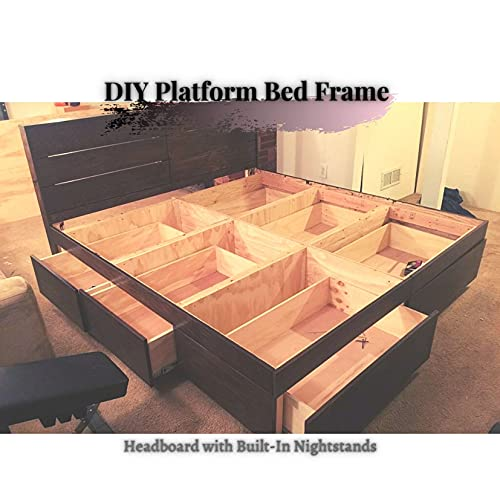 DIY Platform Bed Frame : Headboard with Built-In Nightstands (English Edition)