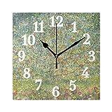 Ahomy - Reloj de Pared Cuadrado, diseño de árbol de Manzanas en Flor