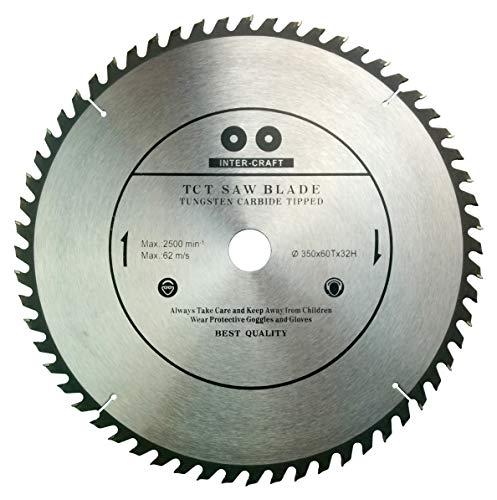 Inter-Craft - Lama per sega circolare per legno, 350 x 32-30 mm, 60 denti