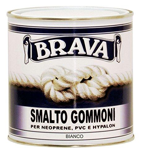 Brava GM7 Smalto Gommoni, Bianco, 750 ml