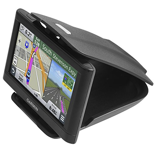 GPS Dash Mount [Matte Black Dock] for Garmin Nuvi Drive Dezl Drivesmart, Tomtom, Magellan Roadmate, Rand McNally, Navman, Cell Phone - Car Adhesive Non-Slip Dashboard Replacement Holder for Satnav