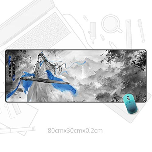 Nsddm MO DAO ZU SHI Series/LAN Wangji Playing Guzheng Pattern/Anime Gaming Mouse Pad/Slip Provides Stability and Accuracy/Suitable for Home, E-Sports, Office Use Computer Desktop Mat