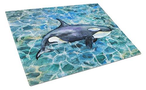 Caroline's Treasures BB5334LCB Killer Whale Orca - Tabla de cortar (cristal, tamaño grande), multicolor