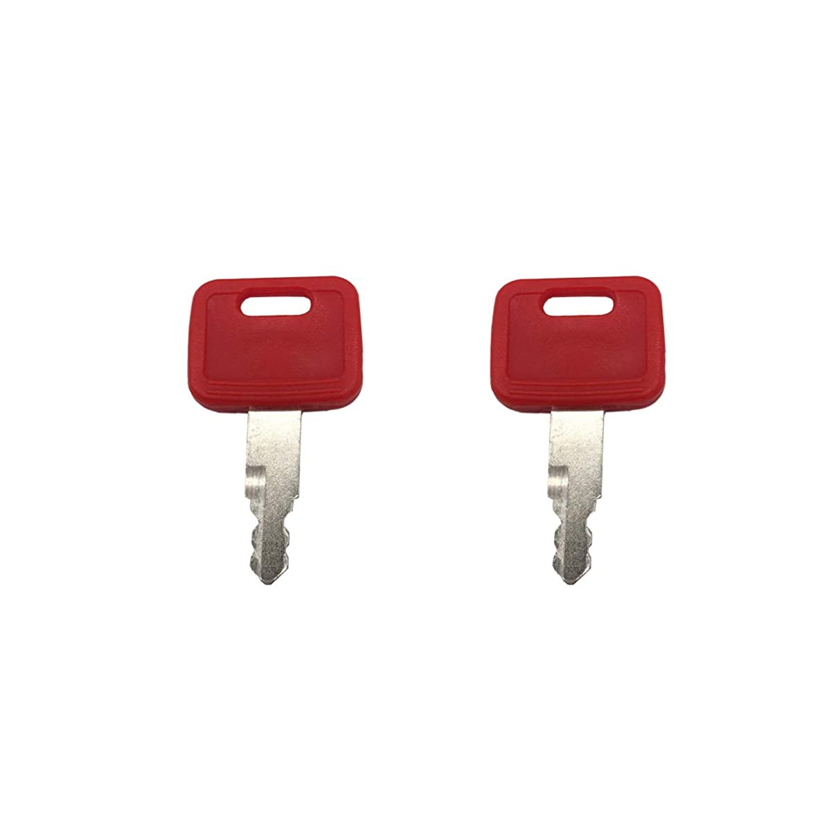 2 Pcs AT194969 AT147803 H800 Ignition Key fits Excavator John Deere Excavator Case Hitachi New Holland