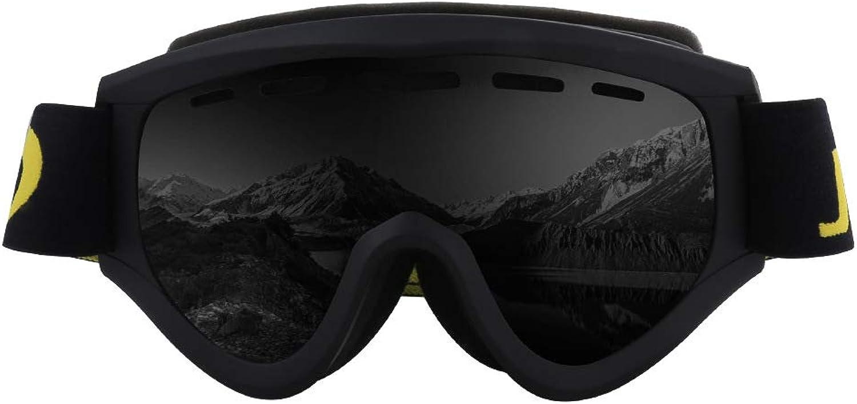 Mmsww Motorradbrillen, Skibrillen Zylindrische Skibrillen Outdoor Skilanglaufbrille gegen Nebel und Sandbrille
