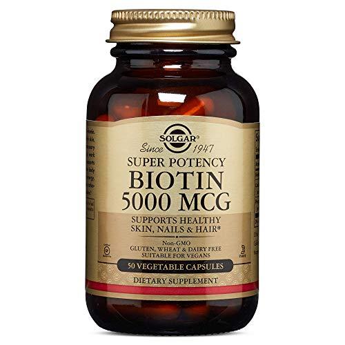 Biotin, 5000 mcg, 50 Veggie Caps - Solgar