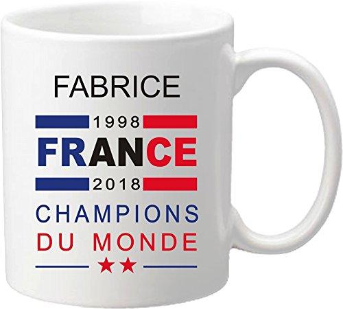 Mug Coupe du Monde de Football 2018 - France Champions du Monde 2018 - offrez vous ce mug personnalisé de l'équipe de France de football - maillot Mug-2018-A