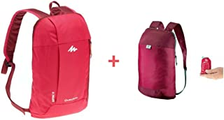 Quechua COMBO ULTRA-COMPACT 10 LITRES EXTRA BACKPACK PLUS NH100 10L HIKING BACKPACK