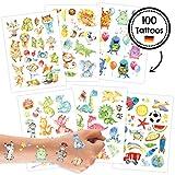 100 Tattoos für Kinder - Hautfreundliche Kindertattoos mit Dinosauriern, Monstern, Drachen,...