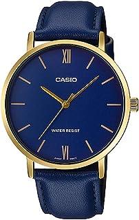 Casio Blue Leather Men Watch MTP-VT01GL-2BUDF