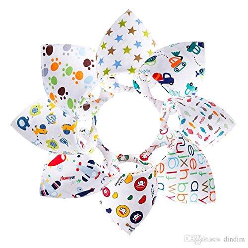 Bebedou 8 PACK kleurrijke Dribble Bibs Bandana puur katoen stijlvolle Bandana / Drool Bib voor baby's en peuter, leuk kleurrijk ontwerp, baby douche geschenk, burpy handdoek •Mooie ontwerpen dierentuin dieren • zeer goede kwaliteit •mooi en funky 7multi