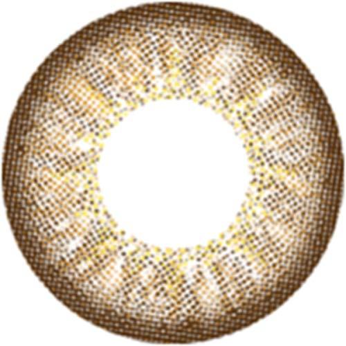 Matlens – EOS Farbige Kontaktlinsen mit Stärke braun brown Big eyes Luna 2 Linsen 1 Kontaktlinsenbehälter 1 Pflegemittel 50ml