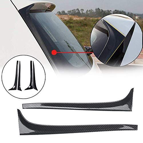ZLMFBMStomsHan Auto Heckscheiben-Spoiler Flügel, Seitenspoiler mit Golf 7 MK7 (14-18), Auto-Styling Auto Heckscheibenspiegel Heck Zubehör, 2St,Gloss-Black
