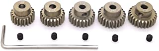 48P Pinion Gear Set 21T 22T 23T 24T 25T 3.175mm RC Motor, 5 Pcs 48 Pitch Gears RC Upgrade Part with Screwdriver