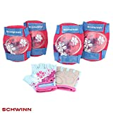 Schwinn Girls Multi-Sport Pad Set Gloves, Pink/Blue, One Size  (Age 3+)