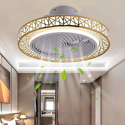 Deckenventilator mit Beleuchtung LED-Licht,72W Dimmbare Deckenventilatorleuchten,Mit Beleuchtung App und Fernbedienung Ultra,Einstellbare Windgeschwindigkeit, Für Wohnzimmer Schlafzimmer, 50cm