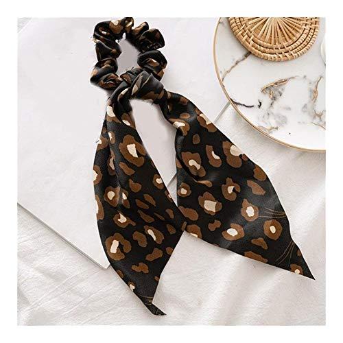 YUNGYE Hot Leopard Femmes Cheveux Bow Banderoles Filles Accessoires Cheveux Ruban Cheveux Glands Cheveux Corde Serpent Mode Femmes Imprimer Hairband (Color : 10)